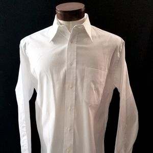 Gitman Brothers Vintage White Casual Dress Shirt